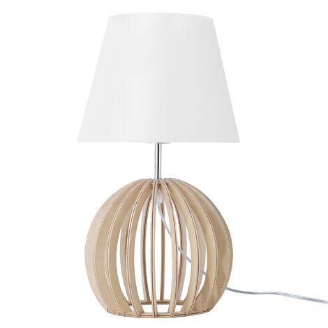 Lampe à poser blanche au style moderne et naturel