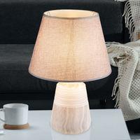 1-flg Lampe de table lampe Hobby Chambre Interrupteur Céramique Marbre Gris lumière bureau