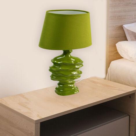 Lampe à poser céramique verte Lampe LED décorative éclairage salon