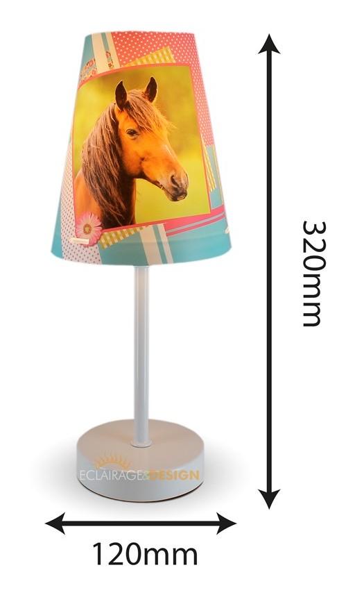 Stcd0112 A Poser Cheval 32cm Conique Lampe 2WDEHI9