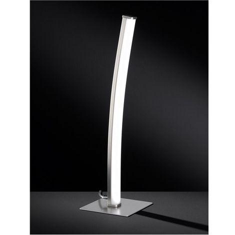 Lampe à poser design arc barre LED Eclairage acier brosse bureau salon chevet