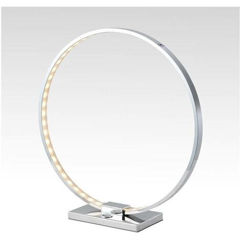 Lampe à poser design chrome LED tactile 3 intensités - Collection Circle
