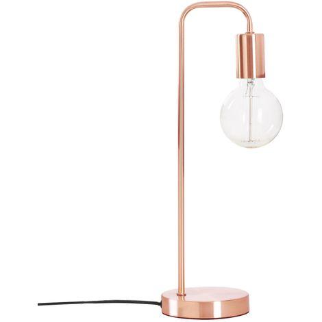 Lampe à poser design Keli - H. 45,5 cm - Marron cuivré
