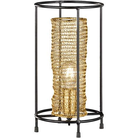 Lampe à poser, design nid d'abeille, or, H 36 cm, ANO