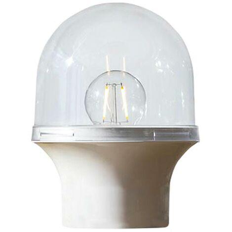 Lampe à poser design vintage sans fil dôme transparent ampoule LED filament blanc chaud LITTLE DANDY H21cm