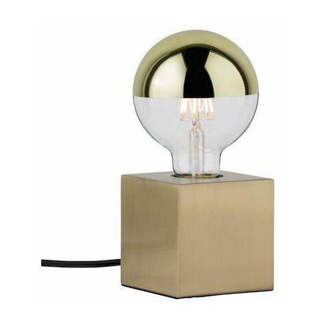 Lampe à poser Dilja - 20W - E27 - Sans ampoule - Dimmable - Laiton brossé