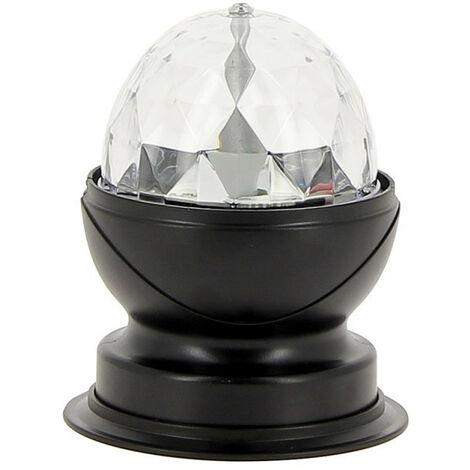 Lampe à poser effet disco, LED multicolores ,tête rotative | Xanlite