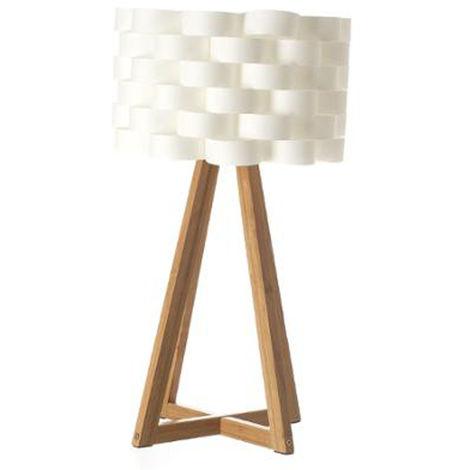 Lampe à poser en bambou - Dim : H. 55,5 x D. 30 cm