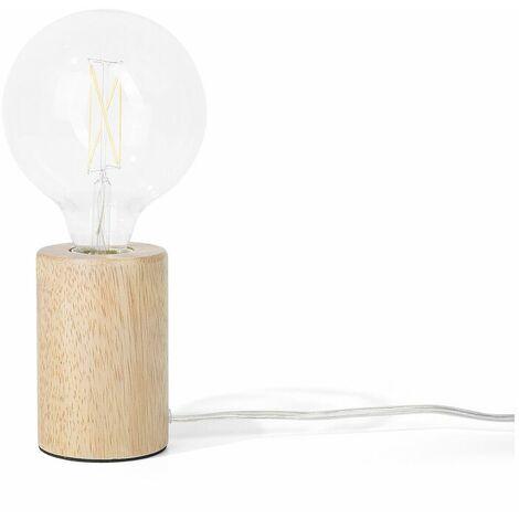 Lampe à poser en bois au style minimaliste