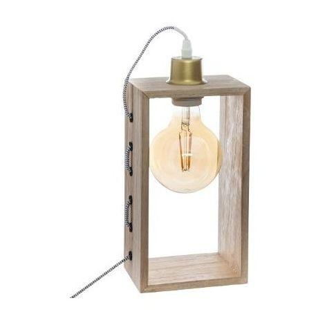 Lampe à poser en bois - Iwata - H 28 cm