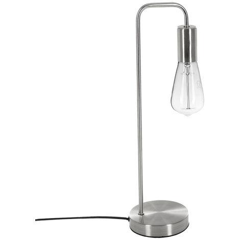 Atmosphera - Lampe à poser en métal coloris Argent H 45.5 cm Keli
