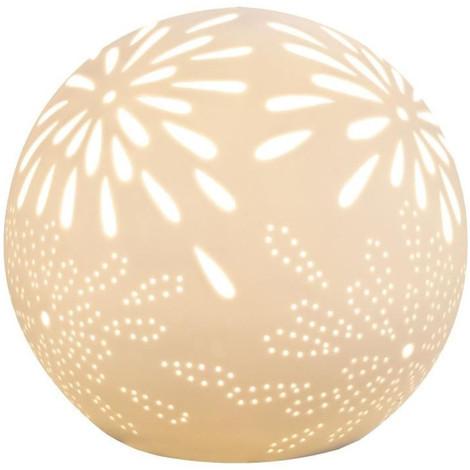 14x16x16 En Blanc Lampe Poser Porcelaine A Cm Mat A3jLc54RqS