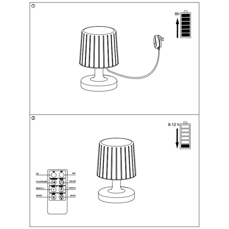 Lampe Poser Ip65 De Mer Led Bord Blanc Rvb À Moonlight Extérieure ZOiTPkXu