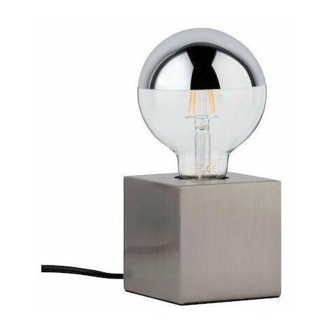 Lampe à poser Kura - 20W - E27 - Sans ampoule - Dimmable - Acier brossé