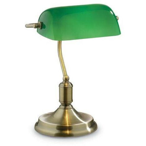 Lampe à poser LAWYER Laiton vieilli 1x60W - IDEAL LUX - 045030