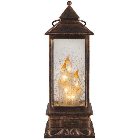 Lampe à poser LED à effet liquide et brillant, LANTERNE