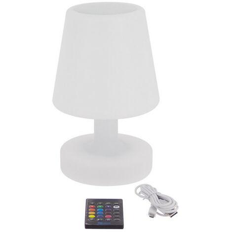 Lampe à poser LED, avec enceinte Bluetooth intégré, couleurs d'éclairage changeantes