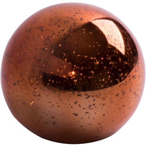 Lampe à poser LED effet étoiles boule de verre D 12 cm BRONZY