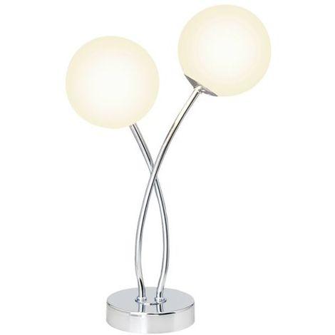 Chrome 2x3w G39642 75 Lampe Poser Mirella G9 Blanc Brilliant À qUpzMSV