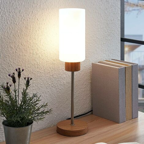 Lampe à poser 'Nicus' en bois pour salon & salle à manger