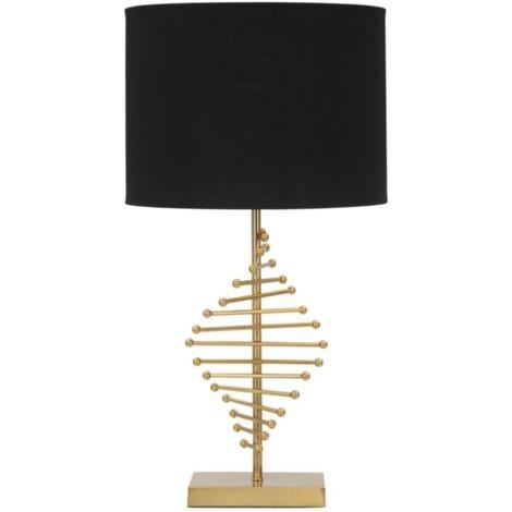 Lampe à poser noir et doré en métal éclairage intérieur style glamour STICKY