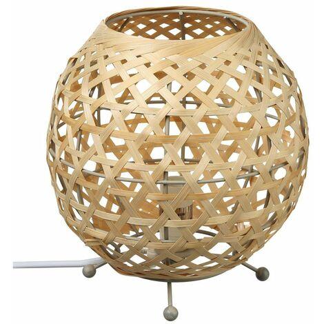 Lampe à poser ovale en bambou Yazu - Atmosphera