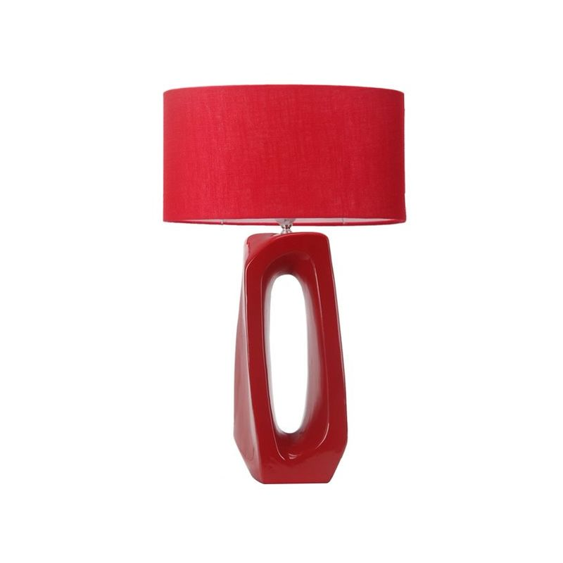 Lampe à poser rouge design Eclairage de chambre chevet salon LED
