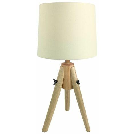 Lampe à poser scandinave en bois beige - Beige