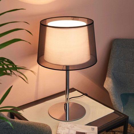 Lampe à poser 'Thedo' en textile pour salon & salle à manger