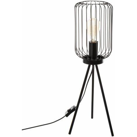 Lampe à Poser Trépied Métal H. 59 cm