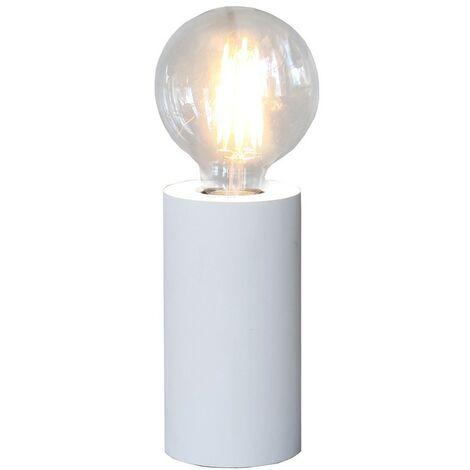 Lampe a poser TUB 15cm Blanc