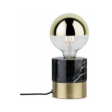 Lampe à poser Vala - 20W - E27 - Sans ampoule - Dimmable - Marbre noir/Laiton