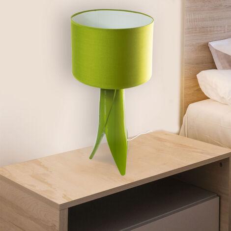 Lampe à poser verte en céramique Eclairage LED salon ou table chevet