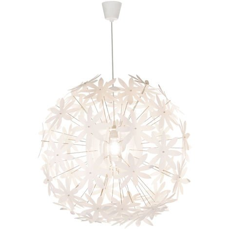 Lampe à suspendre avec des fleurs en blanc pour mettre ensemble STELLA