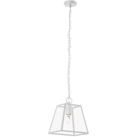 Lampe a Suspension Amata - Plafonnier - pour Wall - en Metal, Verre, 27,5 x 27,5 x 110 cm, 1 x E27, 60W