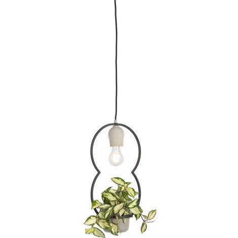 Lampe à suspension Country béton - Fauna C. Qazqa Rustique Luminaire interieur