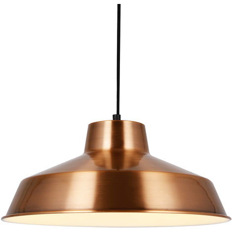 À Suspension Plafond De Lampe Design Cuivre Métalø35cm 67bfgy
