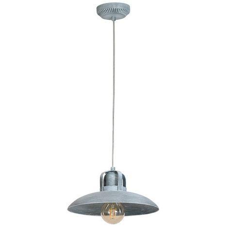 Lampe a Suspension Felix Concrete - Plafonnier - Murale - Gris en Metal, 30 x 30 x 100 cm, 1 x E27, 60 W