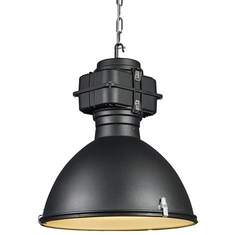 Lampe à suspension industrielle noire 53 cm - Sicko Qazqa Industriel, Rustique, Moderne Luminaire interieur Rond