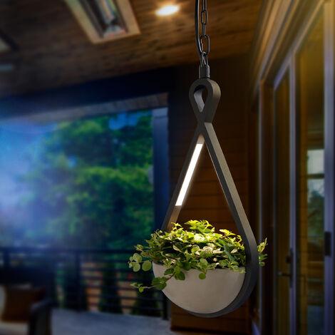 Lampe à suspension LED avec pot de fleurs suspension lampe extérieure extérieure esotec 201205