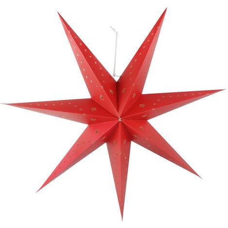 Lampe à suspension LED papier étoile X-MAS planches décoration de Noël projecteurs rouge Harms 920100
