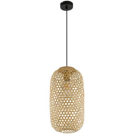 Lampe à suspension LED RGB, bambou tresse, naturel couleur MIRENA