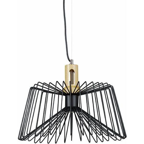 Lampe à Suspension Lustre Lampadaire Luminaire Cuisine Salon Salle De Bain  Métal Noir Industriel