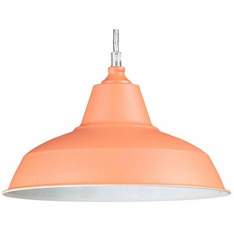 Lampe à suspension lustre lampadaire luminaire cuisine salon salle de bain orange diamètre 28 cm - Or