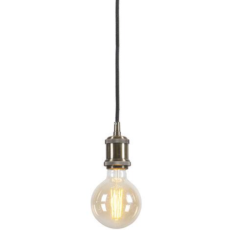 Lampe à suspension Moderne en bronze avec câble noir Cava