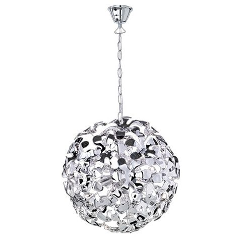 Lampe à suspension noble avec des fleurs transparentes Satin Splash