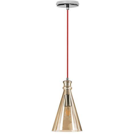 Lampe a Suspension Universe - Plafonnier - pour Wall - en Metal, Verre, 17 x 13 x cm, 1 x E27, 60W