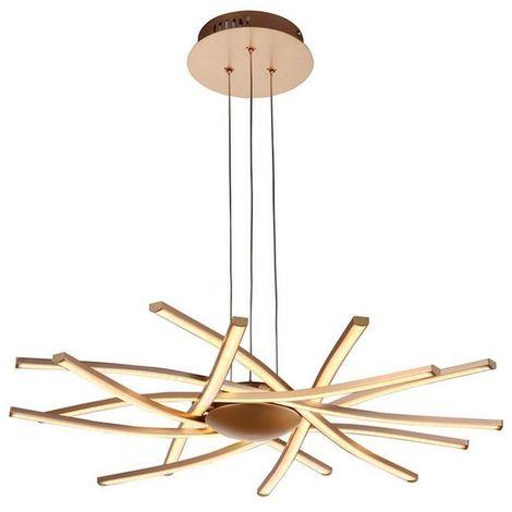 Lampe a Suspsion Ray Plafonnier - Murale - Metal 60 x 60 x 120 cm 8 x LED 12W 10080LM 4200K Lumiere Naturel