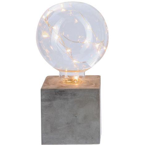 Lampe Ampoule avec micro Led - H. 18 cm - Carré