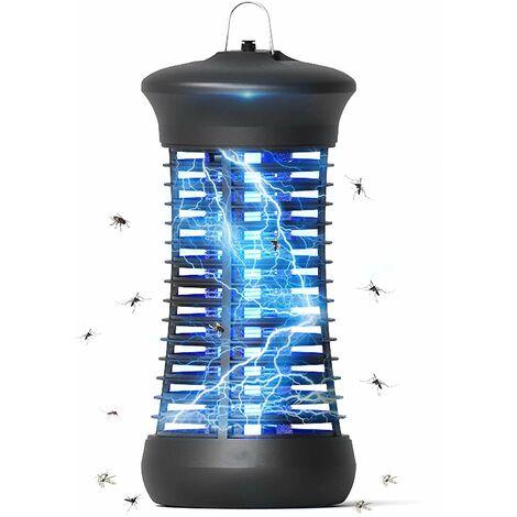 Lampe Anti Moustique, 6W UV Electrique Moustique Killer Lampe, Moustique Tueur Lampe Intérieur, Tueur de Mouches et d'insectes Portable, pour Chambre, Salon, Cuisine, Bureau